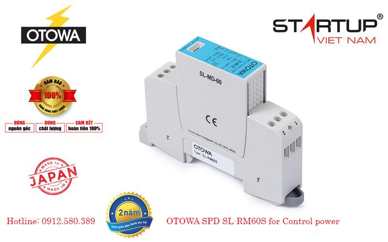 Thiết bị chống sét lan truyền đường điện điều khiển OTOWA SL-RM60S