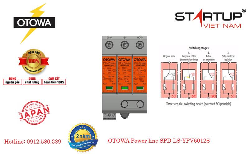 thiết bị chống sét đường điện DC cấp 2 OTOWA LS-YPV6012S