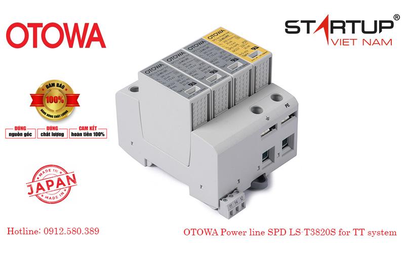 Thiết bị chống sét lan truyền đường điện 3 pha cấp 2 Otowa LS-T3820S