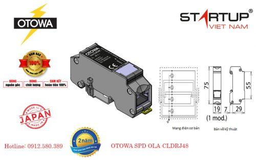 thiết bị cắt sét lan truyền đường tín hiệu Lan Otowa OLA-CLDRJ48