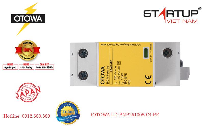 Thiết bị chống sét lan truyền đường điện 3 pha Otowa LD-PNP25100S (N-PE)