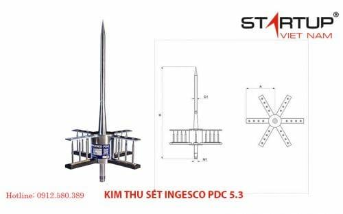 Kim thu sét Ingesco PDC 5.3