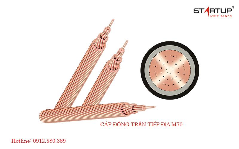 Cáp đồng trần M70- Dây tiếp địa M70