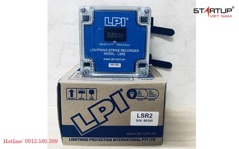 Hình ảnh thực tế đồng hồ đếm sét LPI LSR 2